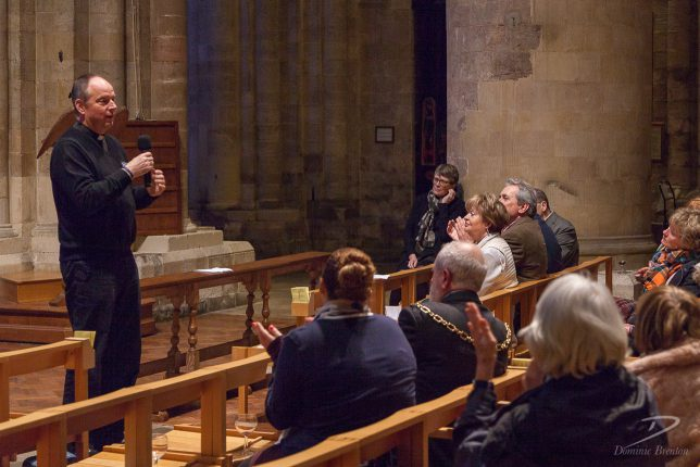 Revd Canon Tim Sledge addressing the audience at Triangulate's employer event in February 2017