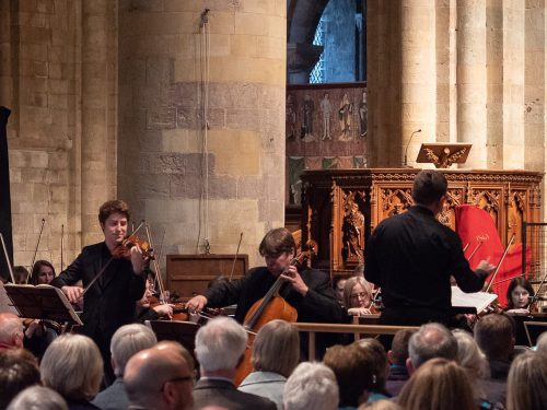 Brahms Double Concerto in Romsey Abbey